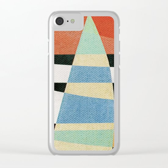 Sailing on a Raging Sea Clear iPhone Case
