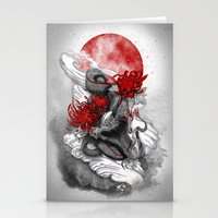 dragon Stationery Cards featuring Dragon by Marine Loup