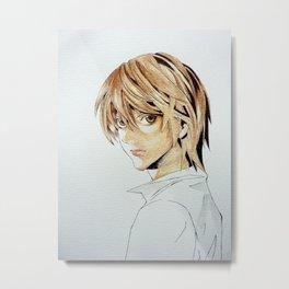 Yagami Light Metal Print