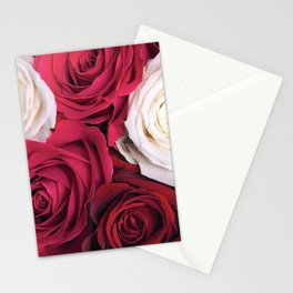 Bordeaux Red and Pink Champagne Roses Stationery Cards