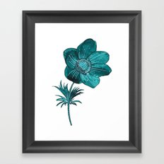 Anemone Watercolor Framed Art Print