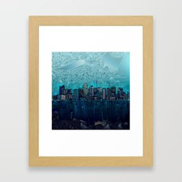 boston city skyline Framed Art Print