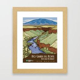 Vintage poster - Rio Grande Del Norte Framed Art Print