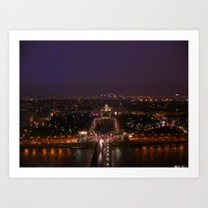 Paris At Night 3 Art Print