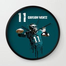Carson Wentz 11 /green Wall Clock