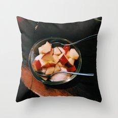 Apple Fro-Yo Throw Pillow