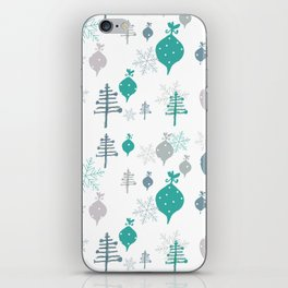 Christmas white ornaments iPhone Skin