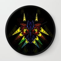 majora Wall Clocks featuring MAJORA MASK majora mask by Veylow