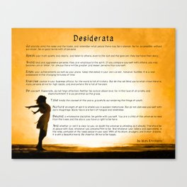 Desiderata - Motivational Poem Art - Child Of The Universe Canvas Print