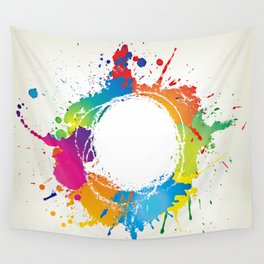 Abstract grunge background with paint splats Wall Tapestry
