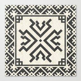 Tribal geometric pattern (Amulet) Canvas Print