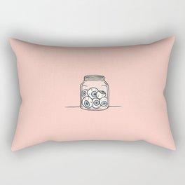 Inktober Day 6 - Six Eyeballs Rectangular Pillow