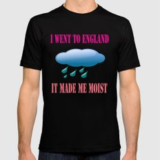 I went to England  MEDIUM Black Mens Fitted Tee
