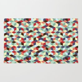 Colorful cubes Rug