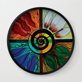 Four Seasons of Eternity  Wall Clock