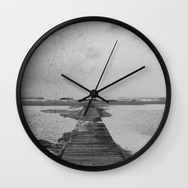 Storm in the beach Wall Clock
