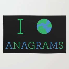 I heart Anagrams Rug