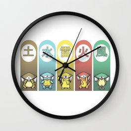 poke kage Wall Clock