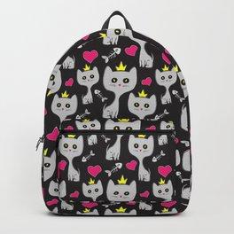 Queen Cat Pattern Backpack