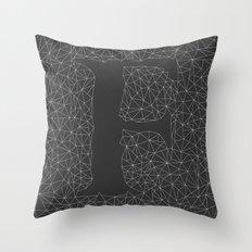 Light Letter F Throw Pillow