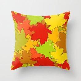Autumn Leaves / Fall / Höst  Throw Pillow