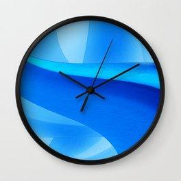 Blue Design Wall Clock