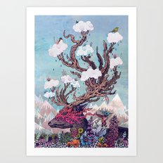 Journeying Spirit (deer) Art Print
