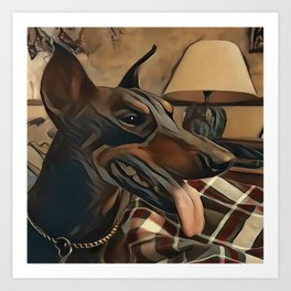 The Doberman Pinscher Art Print