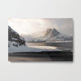 Arctic Mountain View Lyngen Alps, Northen Norway near Tromsø Art Print | Travel Photography Metal Print