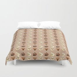 Chocolate hearts Duvet Cover