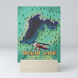 Wular Lake, Bandipora, indian travel poster Mini Art Print