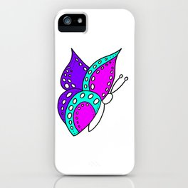 childishly Hand drawn butterfly iPhone Case