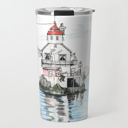 Stabben Lighthouse in Norway Travel Mug