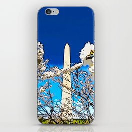 Washington Monument Amid Cherry Blossoms II iPhone Skin