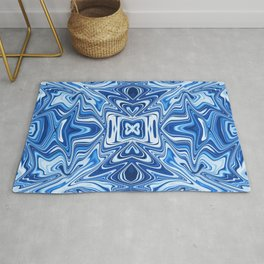 65 - Psychedelic Blues Rug