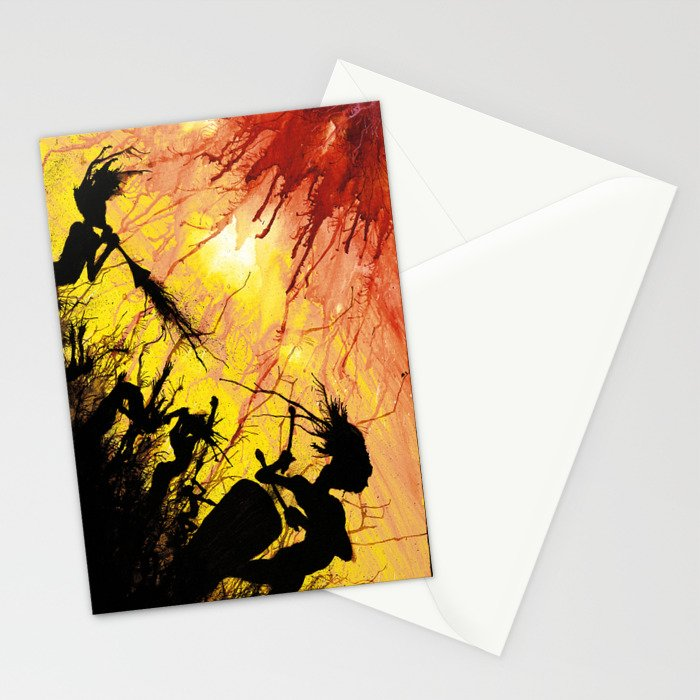 Splatter Dance - Psychedelic Party Stationery Cards