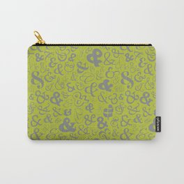 Ampersands - Green & Gray Carry-All Pouch