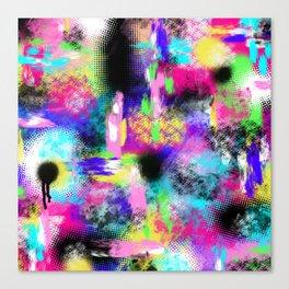 Neon Chaos Canvas Print