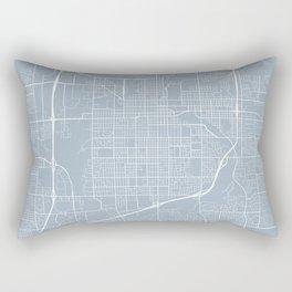 Sioux Falls Map, USA - Slate Rectangular Pillow