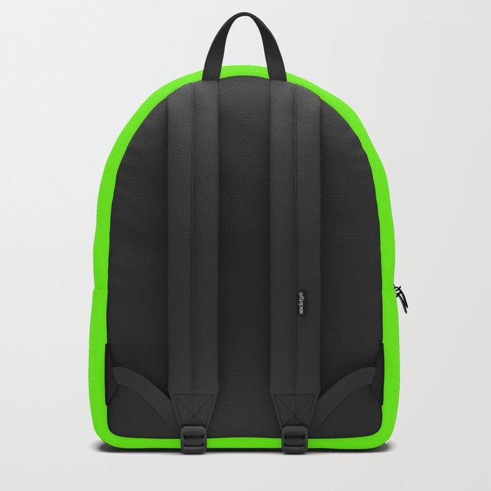 Bright Fluorescent  Green Neon Rucksack