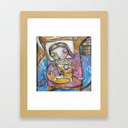 Sleepy Doggie Framed Art Print