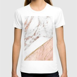 Marble rose gold blended T-shirt