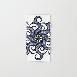 Reverse in blue Hand & Bath Towel