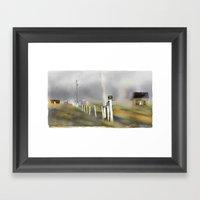 Approaching Storm / Northwest Cape / P.E.I Framed Art Print