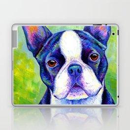 Colorful Boston Terrier Dog Laptop & iPad Skin