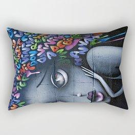 girl letters grafitti Rectangular Pillow