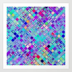 Re-Created  Mosaic No. ELEVEN by Robert S. Lee Art Print