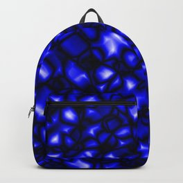 Bright bubbly nautical surface of glass spherical molecules on black metal.  Backpack