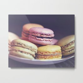 macarons on the windowsill Metal Print
