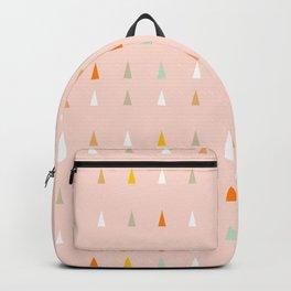 Mini retro tree pattern - Peachy Backpack